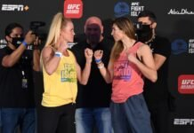Holly Holm and Irene Aldana, UFC Fight Island 4