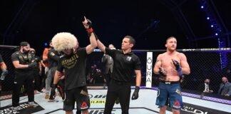 Khabib Nurmagomedov and Justin Gaethje, UFC 254