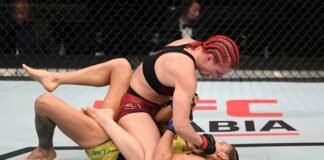 Gillian Robertson and Poliana Botelho, UFC Fight Island 6