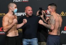 Sean Strickland and Jack Marshman, UFC Vegas 12