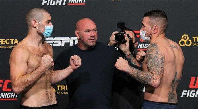 Sean Strickland and Jack Marshman, UFC Vegas 12