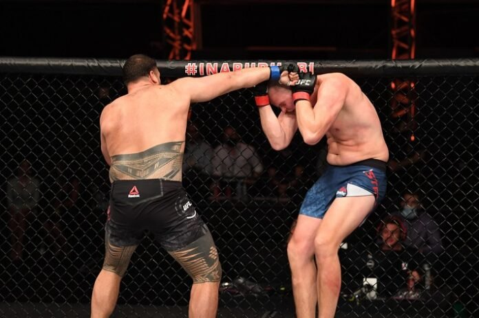 Tai Tuivasa and Stefan Struve, UFC 254