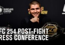 UFC 254 post-fight press conference