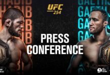 UFC 254 press conference