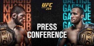 UFC 254 press conference