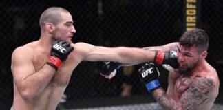 Sean Strickland punches Jack Marshman, UFC Vegas 12