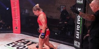 Kayla Harrison, PFL star, at Invicta FC 43