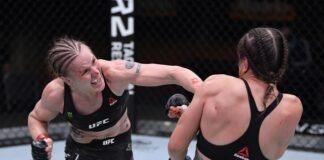 Valentina Shevchenko and Jennifer Maia, UFC 255