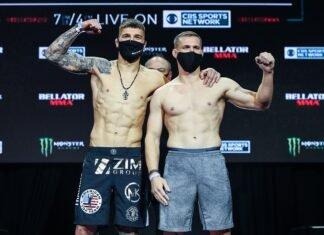 Yaroslav Amosov and Logan Storley, Bellator 252 weigh-in