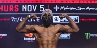 Corey Anderson Bellator 251 weigh-in