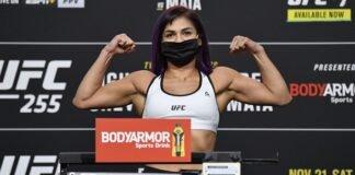 Cynthia Calvillo, UFC 255 weigh-in