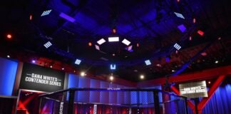 Dana White's Contender Series (DWCS) cage, UFC Apex in Las Vegas, NV