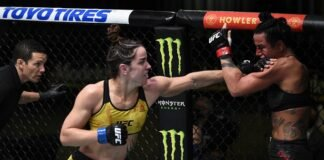 Norma Dumont and Ashlee Evans-Smith, UFC Vegas 15