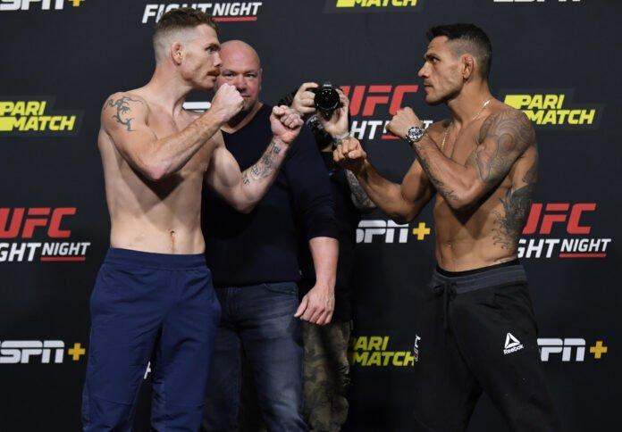 Paul Felder and Rafael dos Anjos, UFC Vegas 14 weigh-in