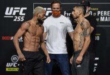 Deiveson Figueiredo and Alex Perez, UFC 255 weigh-in