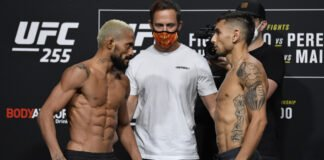 Deiveson Figueiredo and Alex Perez, UFC 255 weigh-in