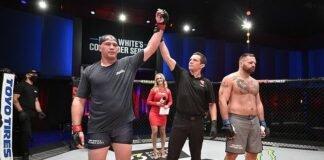 New UFC heavyweight Jared Vanderaa after his DWCS win