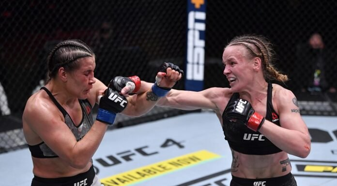 Jennifer Maia and Valentina Shevchenko, UFC 255