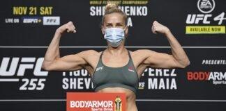 Katlyn Chookagian UFC 255 weigh-in