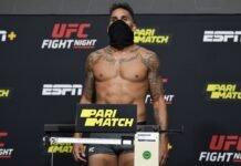 Eryk Anders, UFC Vegas 14 weigh-in