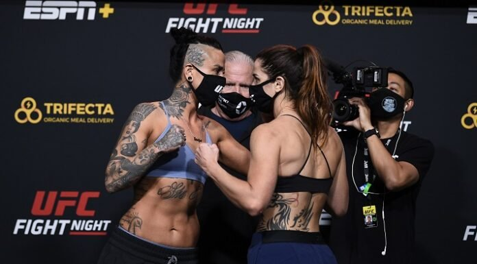 Ashlee Evans-Smith and Norma Dumont, UFC Vegas 15