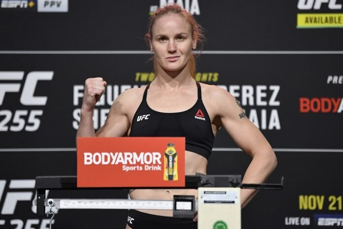 Valentina Shevchenko UFC 255 weigh-in