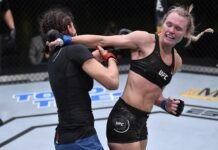 Andrea Lee and Roxanne Modafferi, UFC