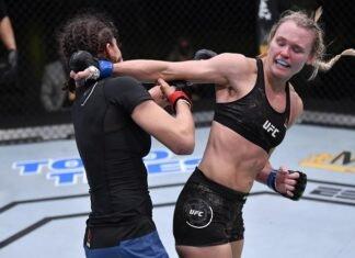 Andrea Lee and Roxanne Modafferi, UFC