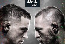 UFC 257 poster