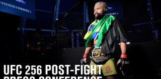 Deiveson Figueiredo UFC 256 post-fight press conference graphic