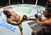 Warlley Alves and Mounir Lazzez, UFC Fight Island 8
