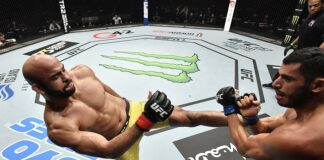 Warlley Alves and Mounir Lazzez, UFC Fight Island 8