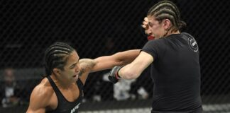Roxanne Modafferi and Viviane Araujo, UFC Fight Island 8