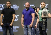 Nate Diaz, Dana White, and Conor McGregor