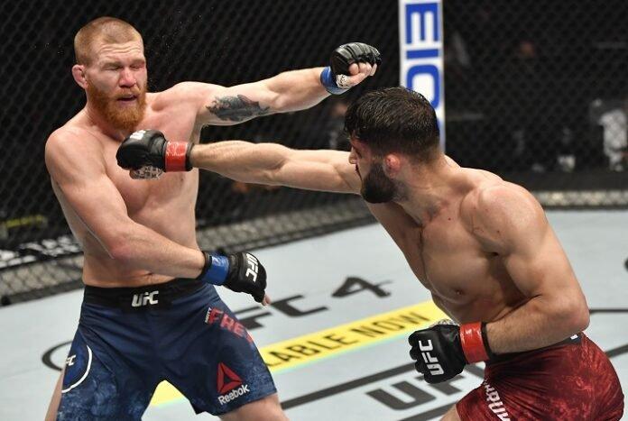 Matt Frevola and Arman Tsarukyan, UFC 257