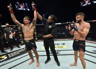 Max Holloway and Calvin Kattar, UFC Fight Island 7 / UFC on ABC 1