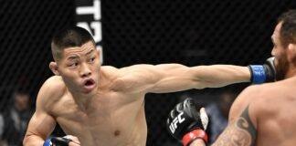 Li Jingliang and Santiago Ponzinibbio UFC Fight Island 7