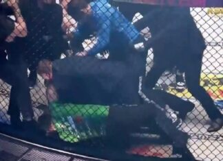KSW 58 brawl between Shamil Musaev and Uros Jurisic