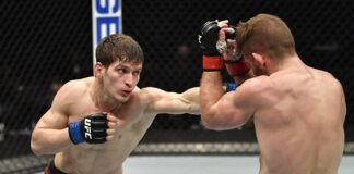 Movsar Evloev and Nik Lentz, UFC 257