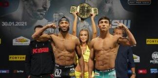 Salahdine Parnasse and Daniel Torres, KSW 58 weigh-in