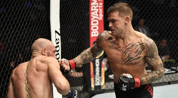 Conor McGregor and Dustin Poirier, UFC 257