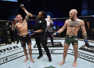 Dustin Poirier and Conor McGregor, UFC 257