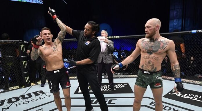 Dustin Poirier and Conor McGregor, UFC 257