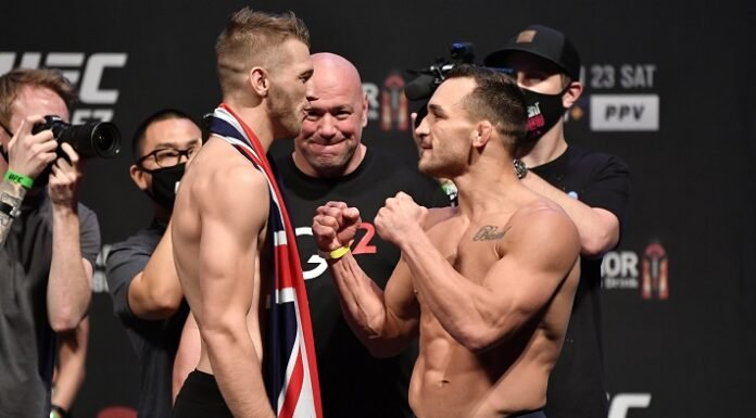 Dan Hooker and Michael Chandler, UFC 257 weigh-in