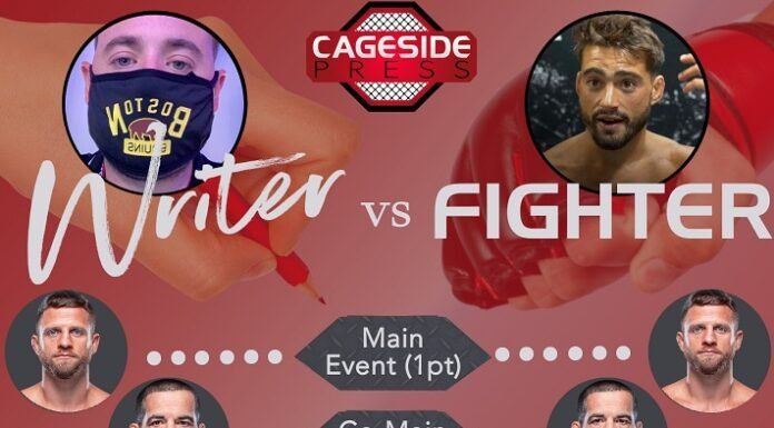Writer vs Fighter UFC FIght Island 7