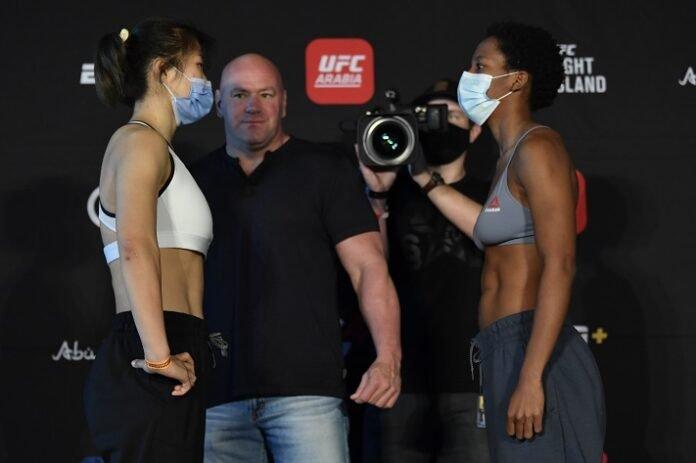 Wu Yanan and Joselyne Edwards, UFC FIght Island 7