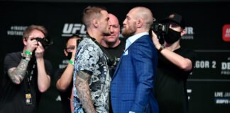 Dustin Poirier and Conor McGregor, UFC