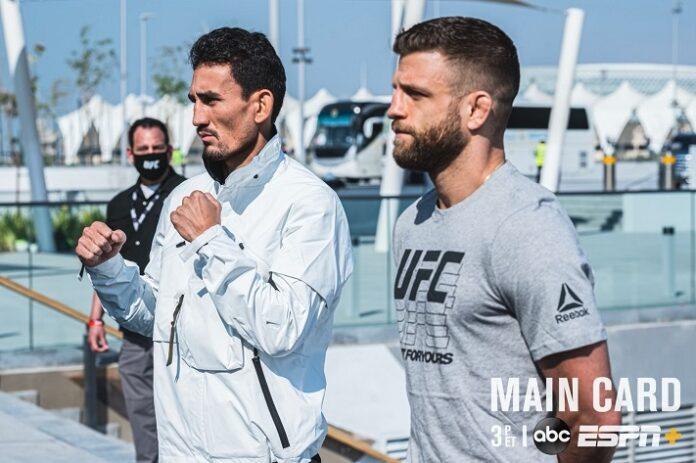 Max Holloway and Calvin Kattar, UFC Fight Island 7