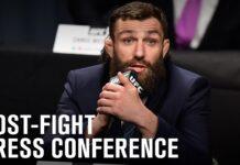 Michael Chiesa UFC Fight Island 8 press conference photo