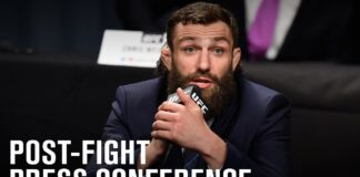 Michael Chiesa UFC Fight Island 8 press conference photo